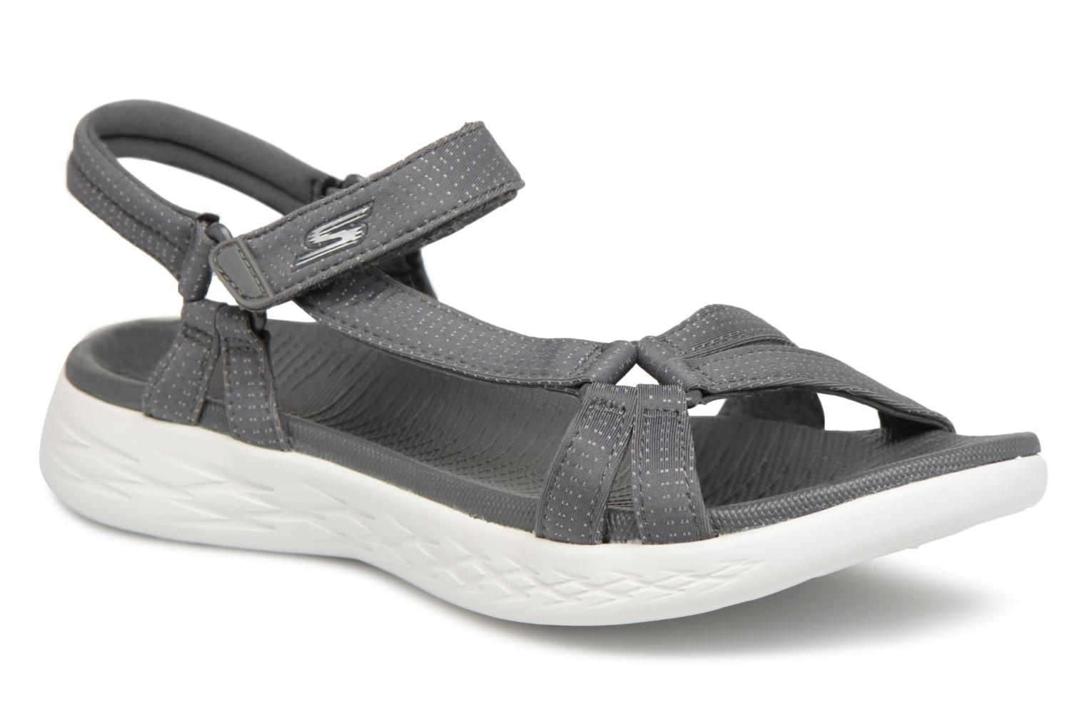 Sandals Skechers On-The-Go 600-Brilliancy Grey detailed view/ Pair view