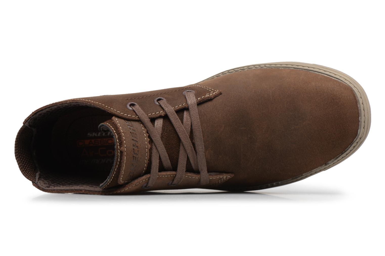 Bottines et boots Skechers Droven-Evado Marron vue gauche