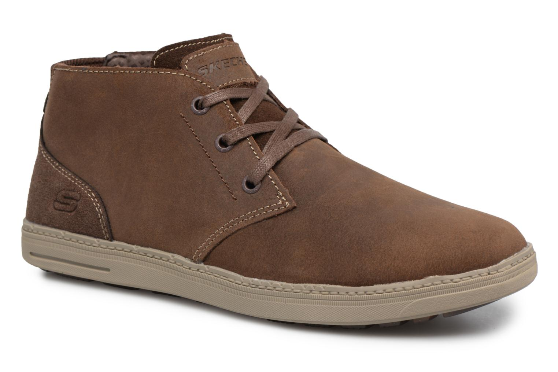 Bottines et boots Skechers Droven-Evado Marron vue détail/paire