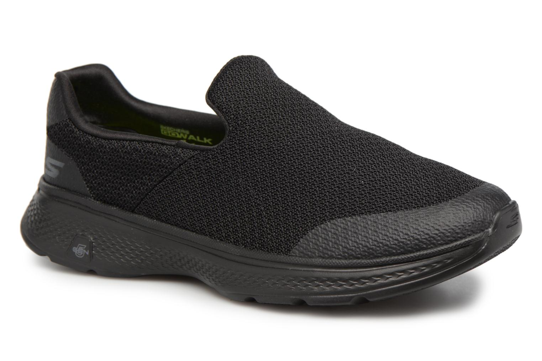 Skechers GO WALK 4 - EXPERT Hommes chaussures Baskets Slip On Confortables Noirs lhc4p223M