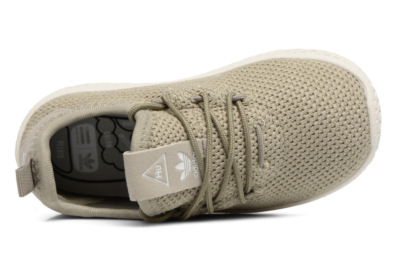 Baskets Adidas Originals Pharrell Williams Tennis Hu I Vert vue gauche