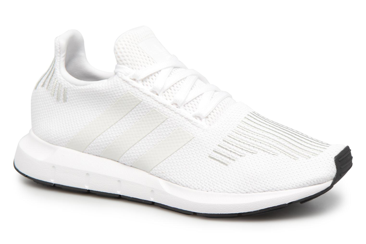 Baskets Adidas Originals Swift Run J Blanc vue détail/paire