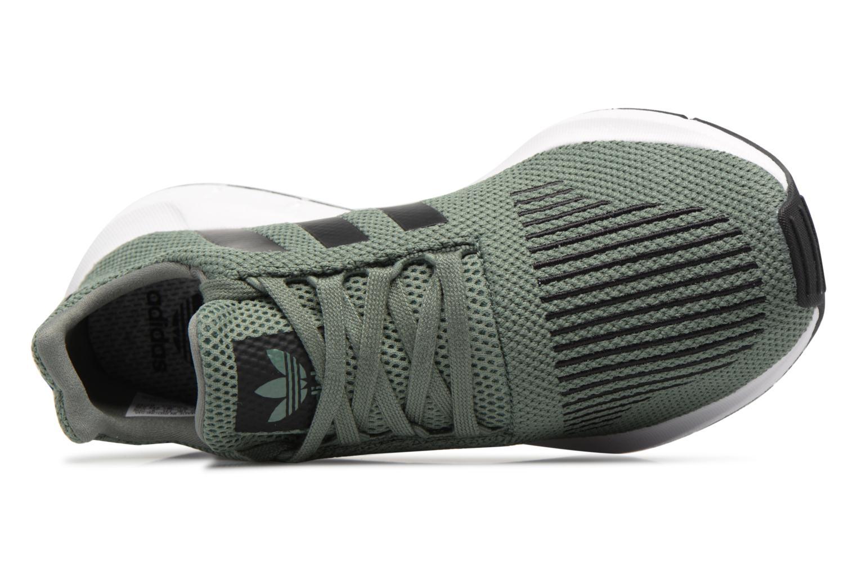 Baskets Adidas Originals Swift Run J Vert vue gauche