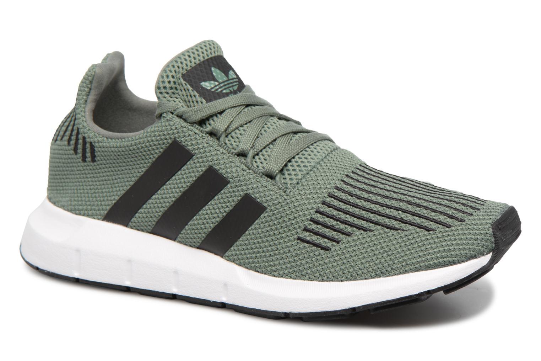 Baskets Adidas Originals Swift Run J Vert vue détail/paire