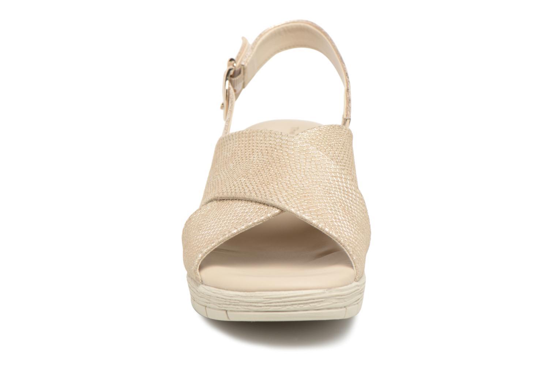 Sandales et nu-pieds The Flexx Ambiguous Or et bronze vue portées chaussures