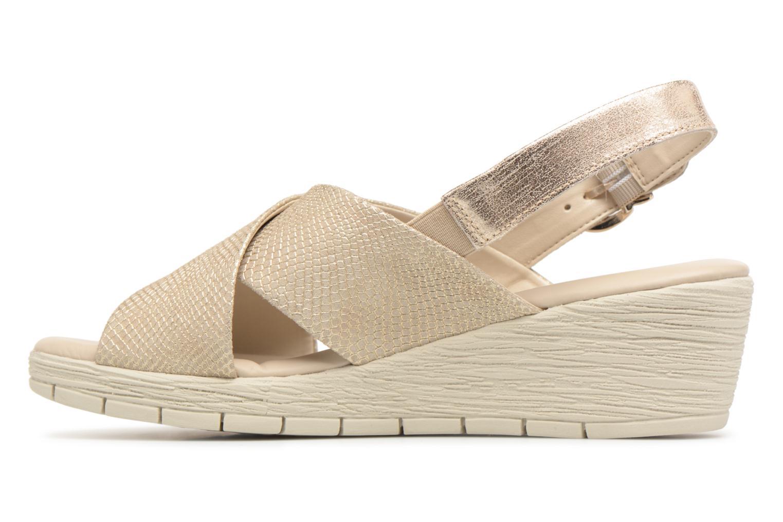Sandales et nu-pieds The Flexx Ambiguous Or et bronze vue face