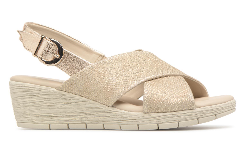 Sandales et nu-pieds The Flexx Ambiguous Or et bronze vue derrière