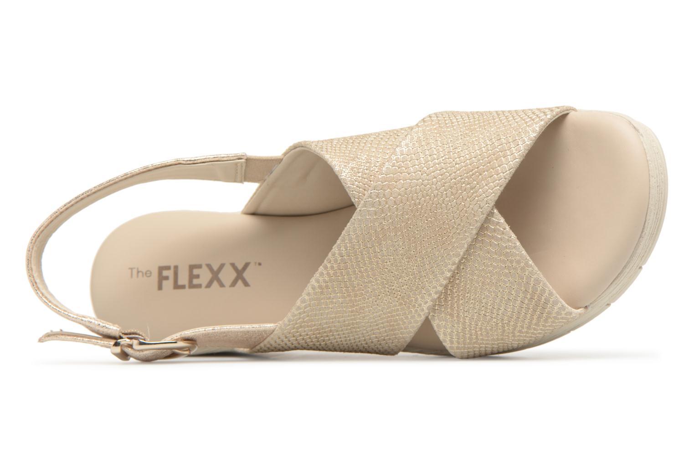 Sandales et nu-pieds The Flexx Ambiguous Or et bronze vue gauche