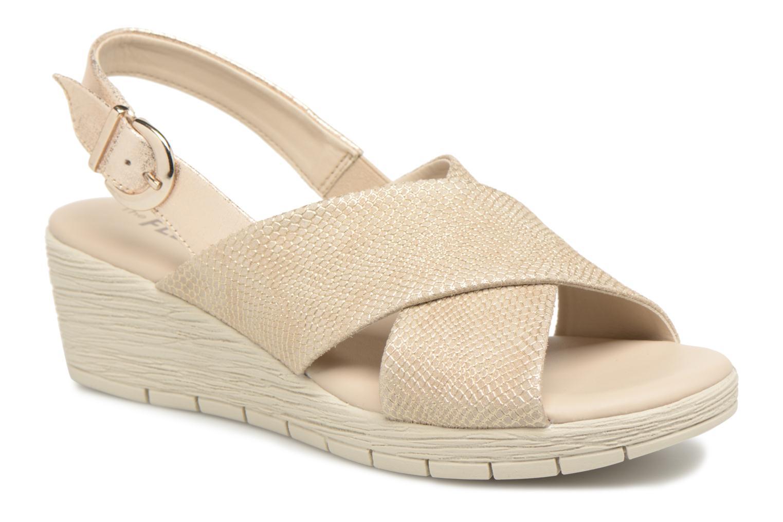 Sandales et nu-pieds The Flexx Ambiguous Or et bronze vue détail/paire