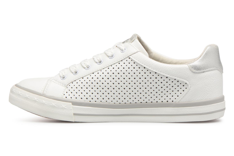 Baskets Mustang shoes Baroni Blanc vue face