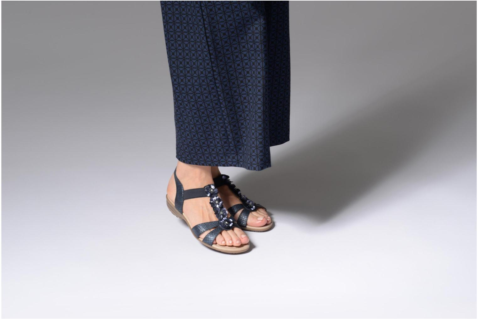 Sandals Remonte Talia R3633 Blue view from underneath / model view
