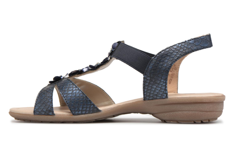 Sandals Remonte Talia R3633 Blue front view