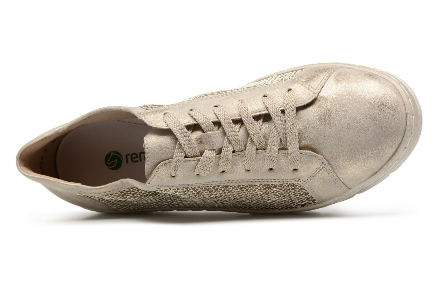 Trainers Remonte Fae D5804 Bronze and Gold view from the left
