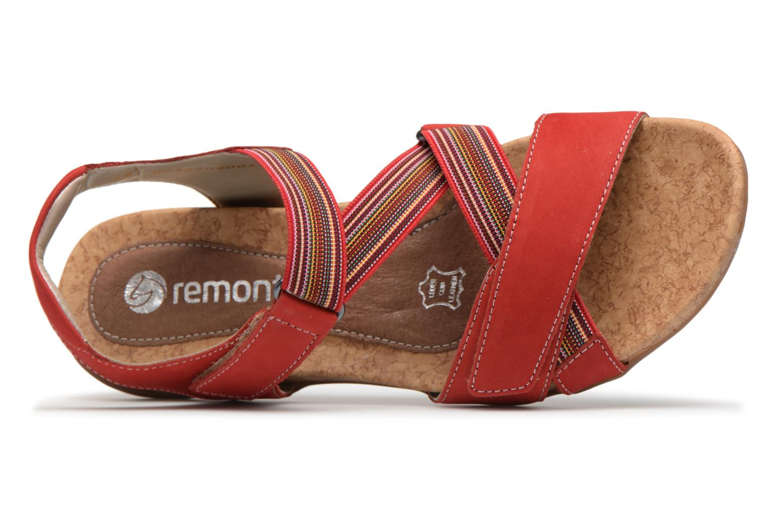 Sandals Remonte Okes R3257 Red view from the left