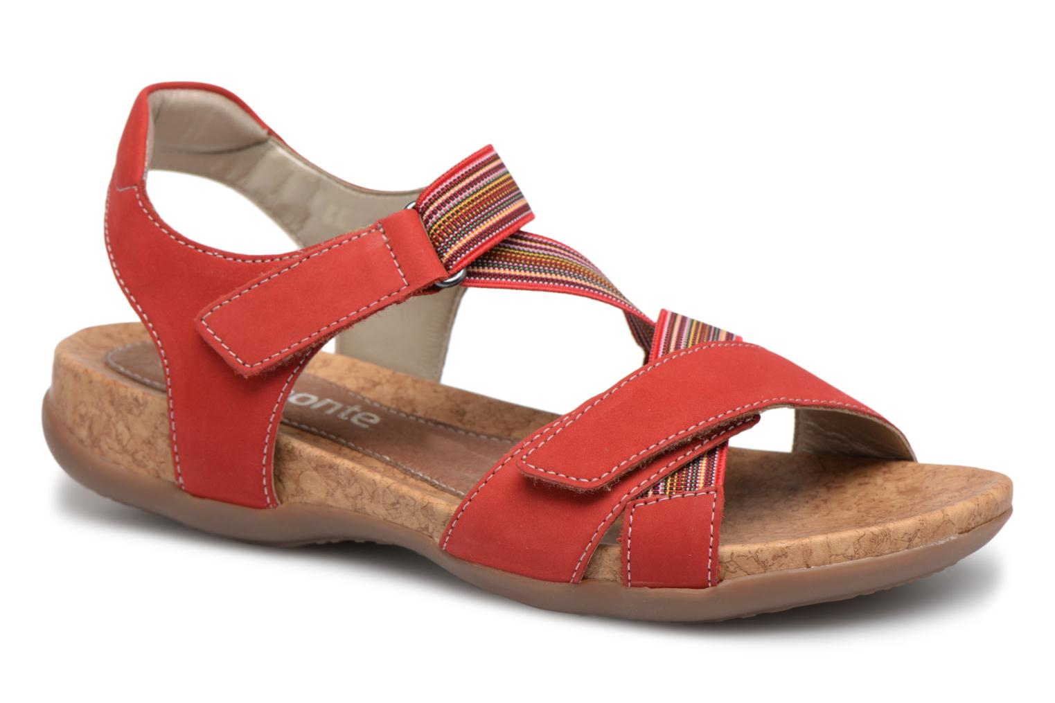 Sandals Remonte Okes R3257 Red detailed view/ Pair view