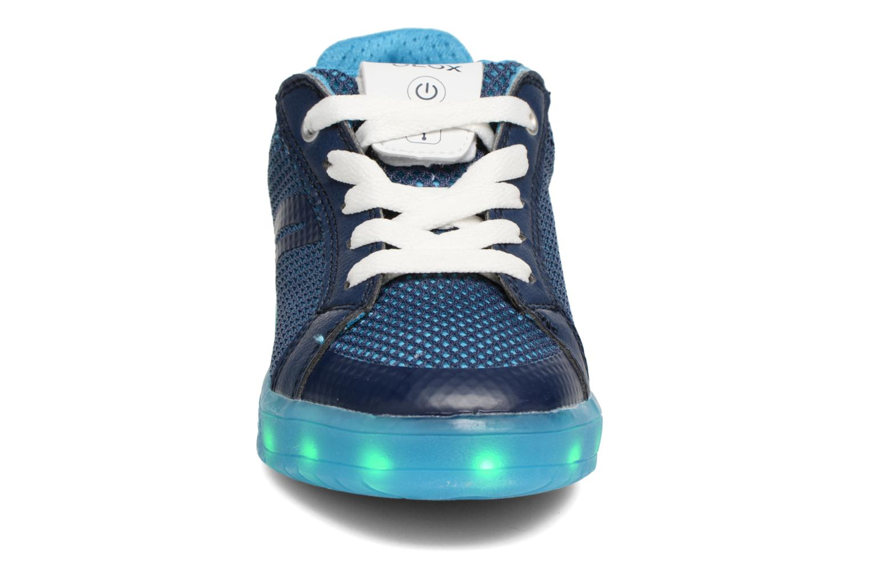 Baskets Geox J Kommodor B.A J825Pa Bleu vue portées chaussures