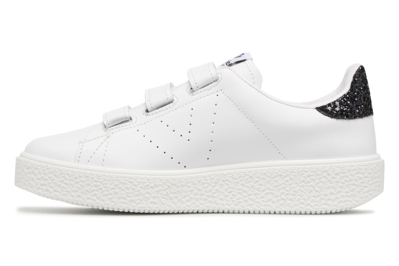 Sneakers Victoria Deportivo Piel Velcros Zwart voorkant