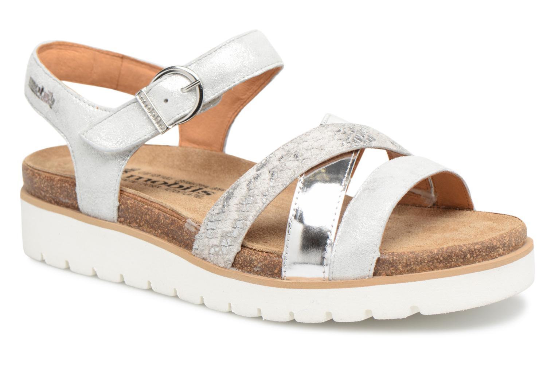 Sandales et nu-pieds Mephisto Thina Argent vue détail/paire