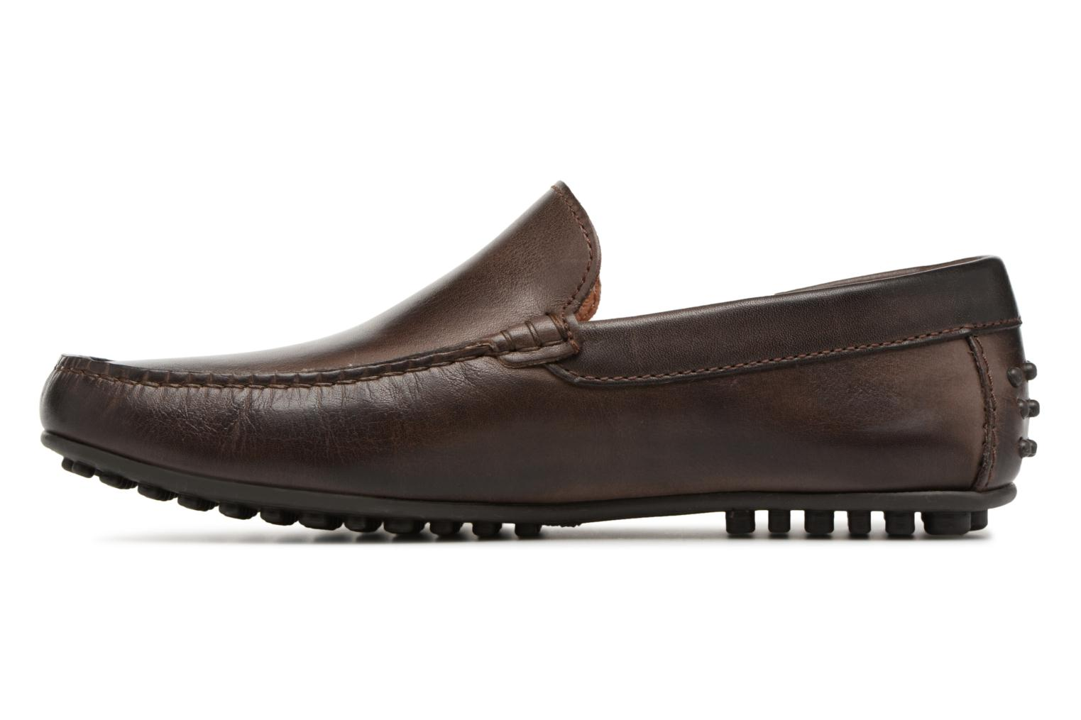 Loafers Marvin&co Suttino Cuir Lisse Brown front view