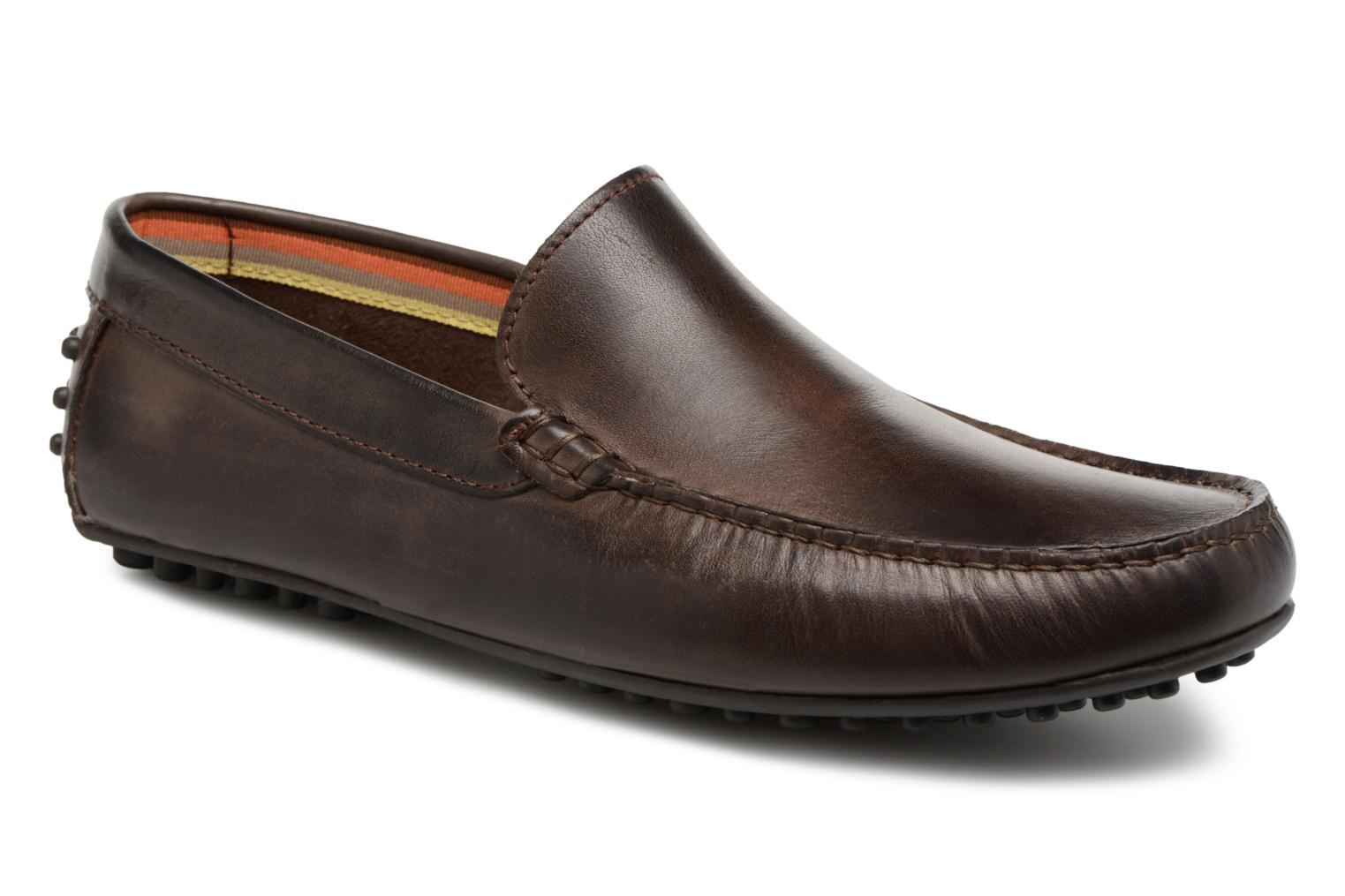Loafers Marvin&co Suttino Cuir Lisse Brown detailed view/ Pair view