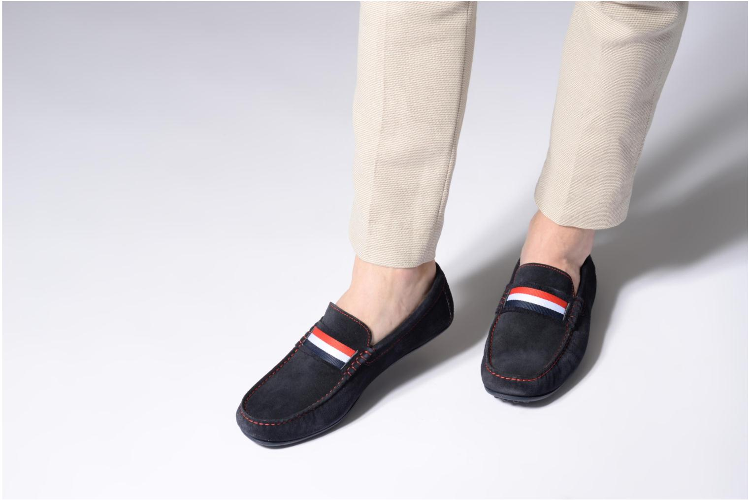 Loafers Marvin&co Spat Blue view from underneath / model view