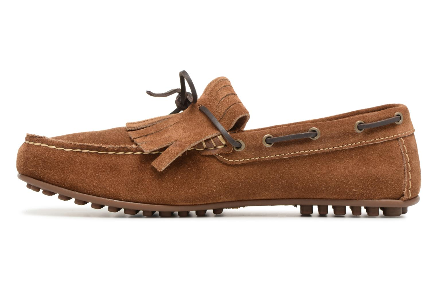 Loafers Marvin&co Sfringe Brown front view