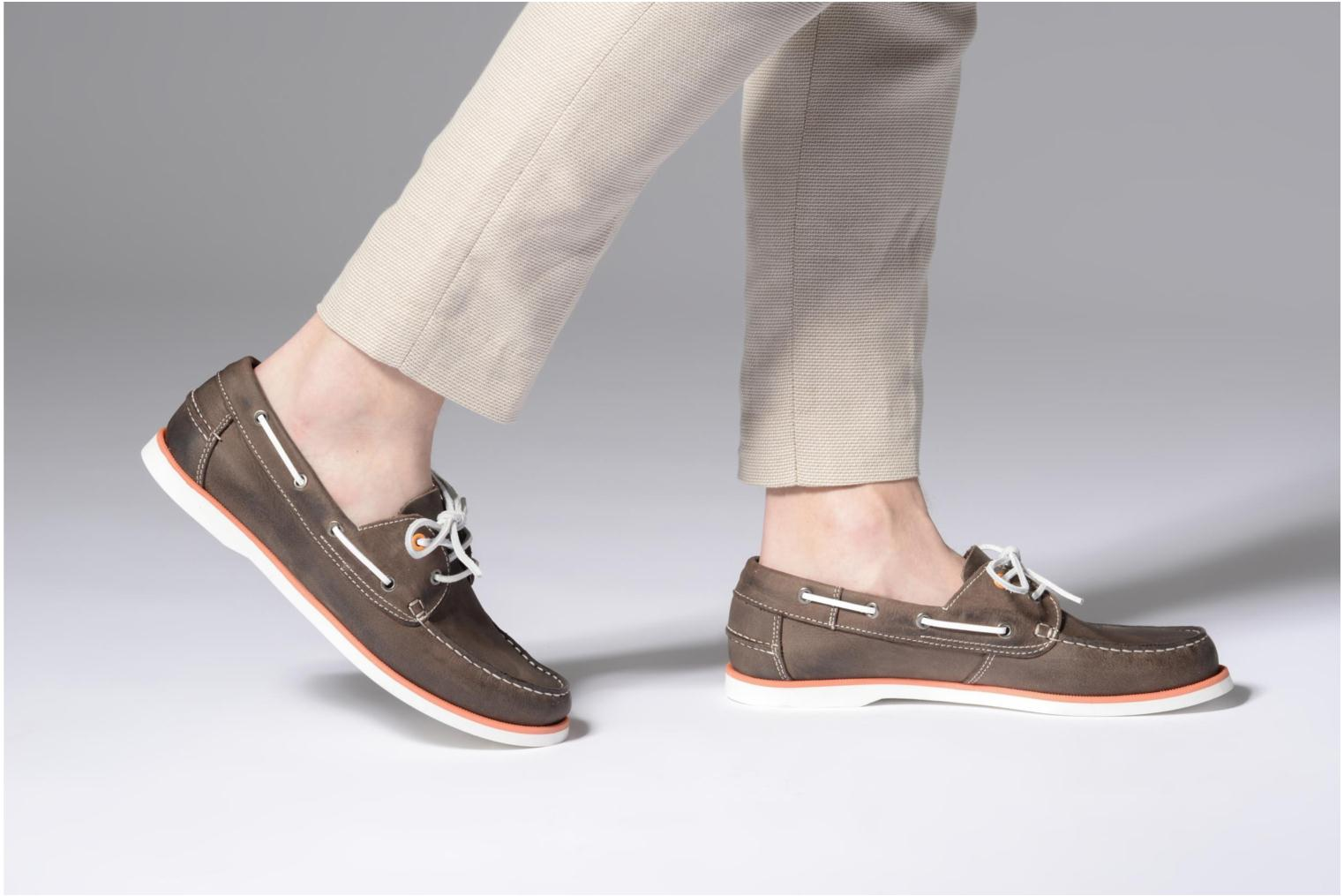 Lace-up shoes Marvin&co Sailboat Brown view from underneath / model view
