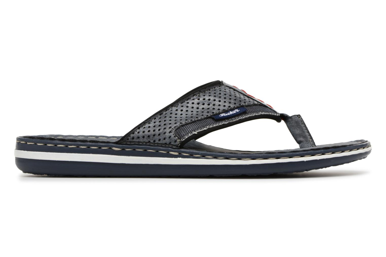 Flip flops Rieker Reed 21083 Blue back view