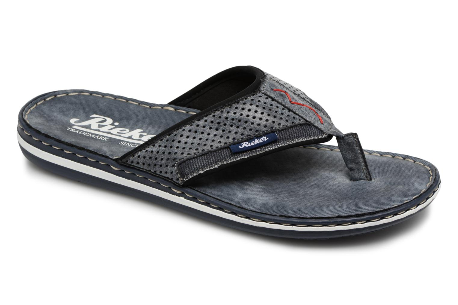Flip flops Rieker Reed 21083 Blue detailed view/ Pair view