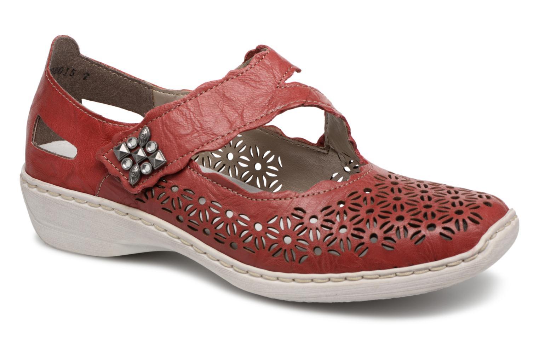 Zapatos promocionales Rieker Toria 413G4 (Rojo) - Bailarinas   Gran descuento