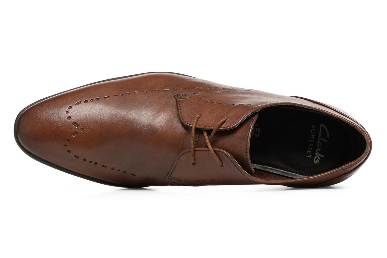 Chaussures à lacets Clarks Bampton Limit Marron vue gauche