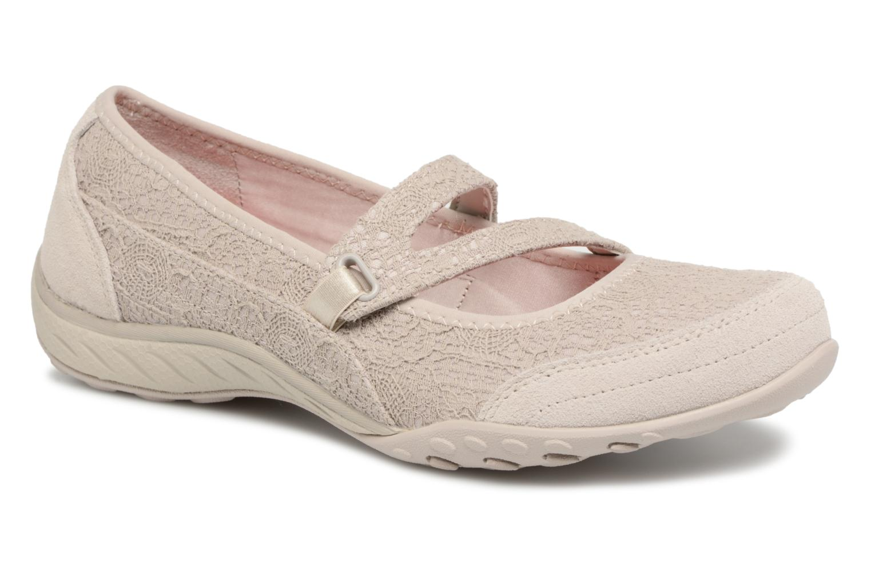 Ballerina Skechers Breathe-Easy Pretty Swagger Beige detaljerad bild på paret