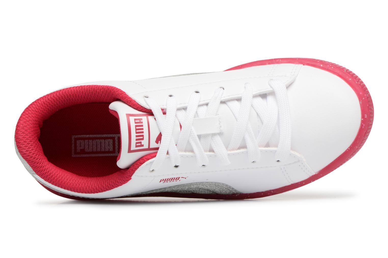 Sneaker Puma PS BASKET ICED GLITTER weiß ansicht von links