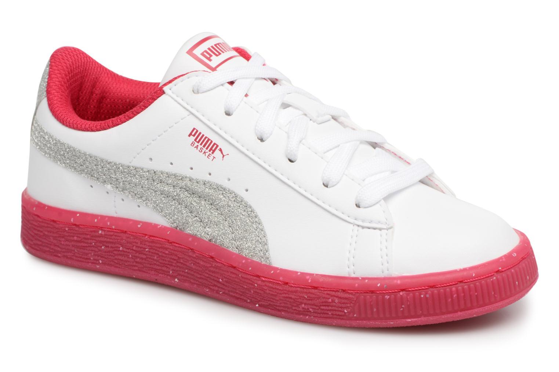 Baskets Puma PS BASKET ICED GLITTER Blanc vue détail/paire