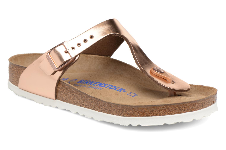 Zapatos de hombres y mujeres de moda casual Footbed Birkenstock Gizeh Cuir Soft Footbed casual W (Oro y bronce) - Sandalias en Más cómodo 64db70