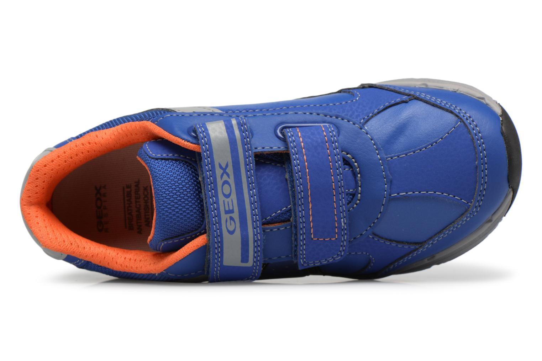 Sneaker Geox J TOP FLY B. B blau ansicht von links