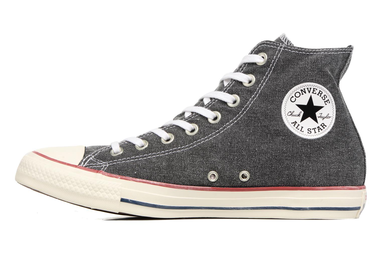 Baskets Converse Chuck Taylor All Star Stone Wash Hi M Noir vue face