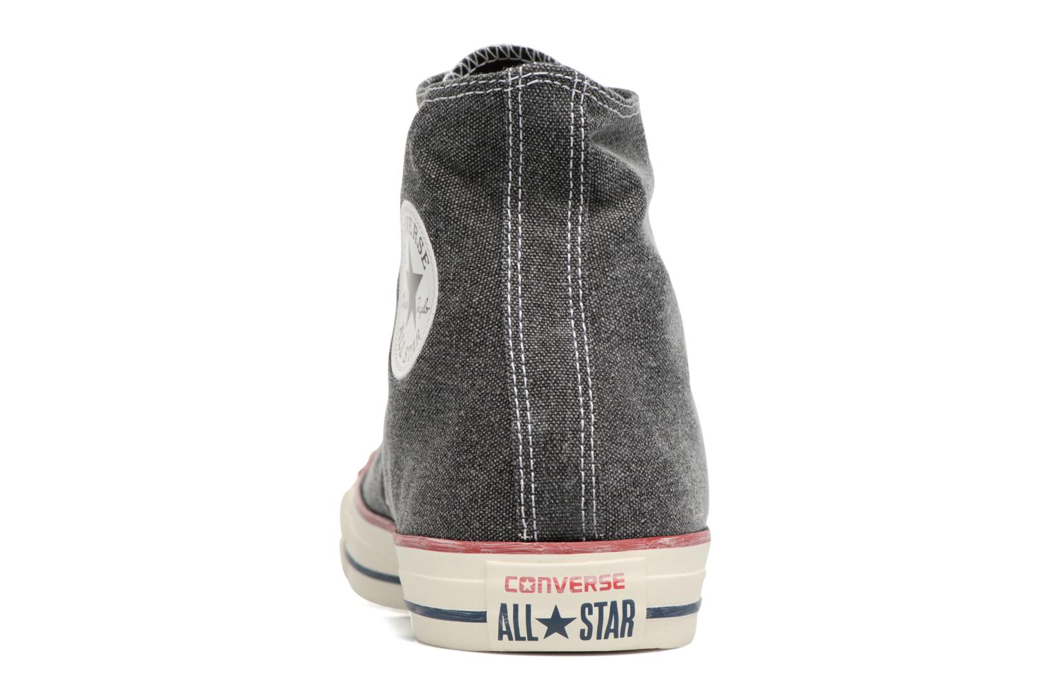 Sneakers Converse Chuck Taylor All Star Stone Wash Hi M Zwart rechts