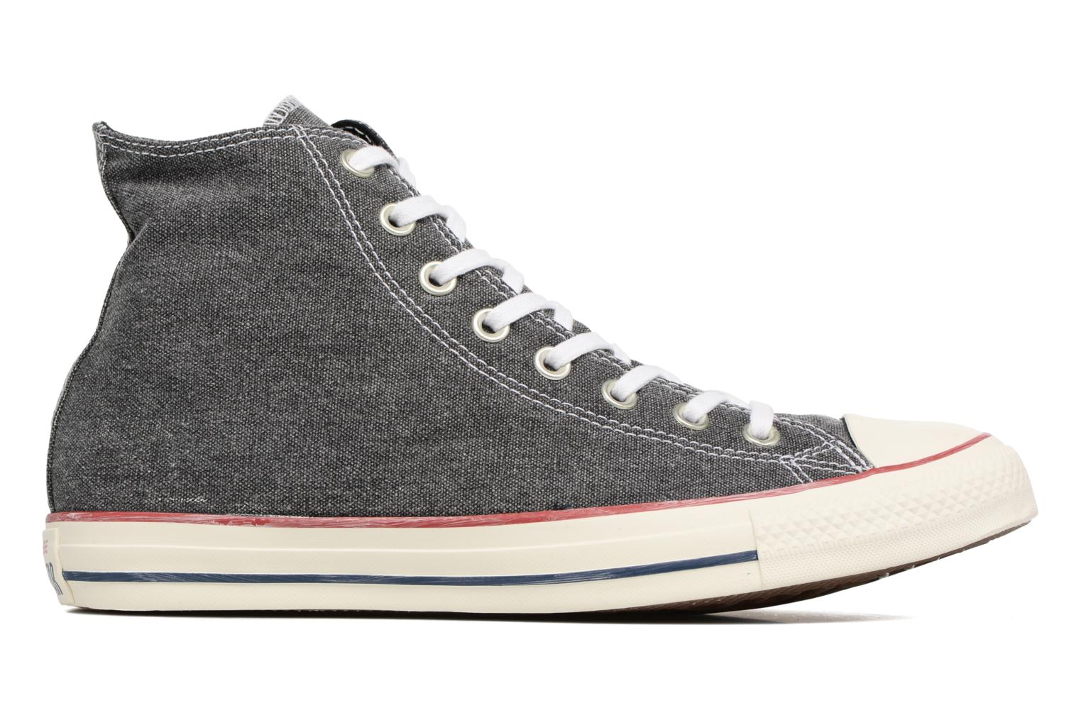 Sneakers Converse Chuck Taylor All Star Stone Wash Hi M Zwart achterkant
