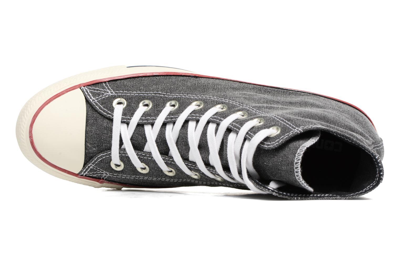 Sneakers Converse Chuck Taylor All Star Stone Wash Hi M Zwart links