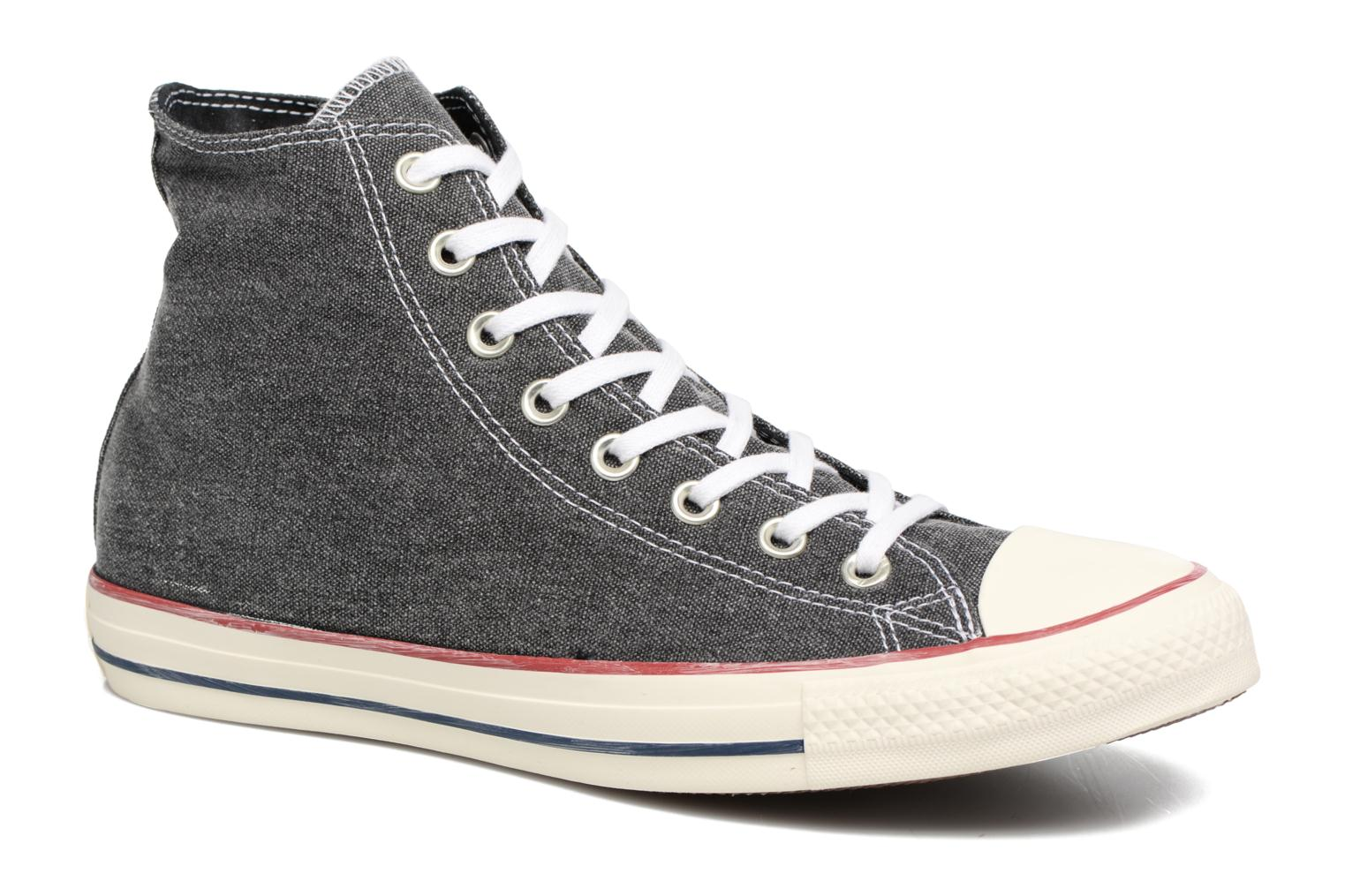 Sneakers Converse Chuck Taylor All Star Stone Wash Hi M Zwart detail