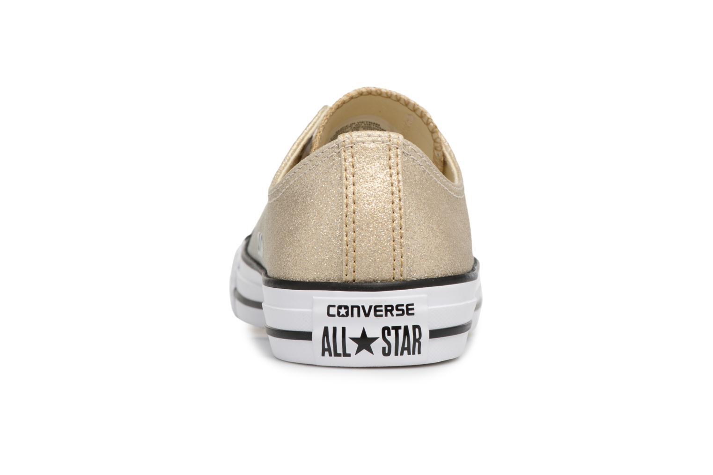 Baskets Converse Chuck Taylor All Star Ombre Metallic Ox Or et bronze vue droite