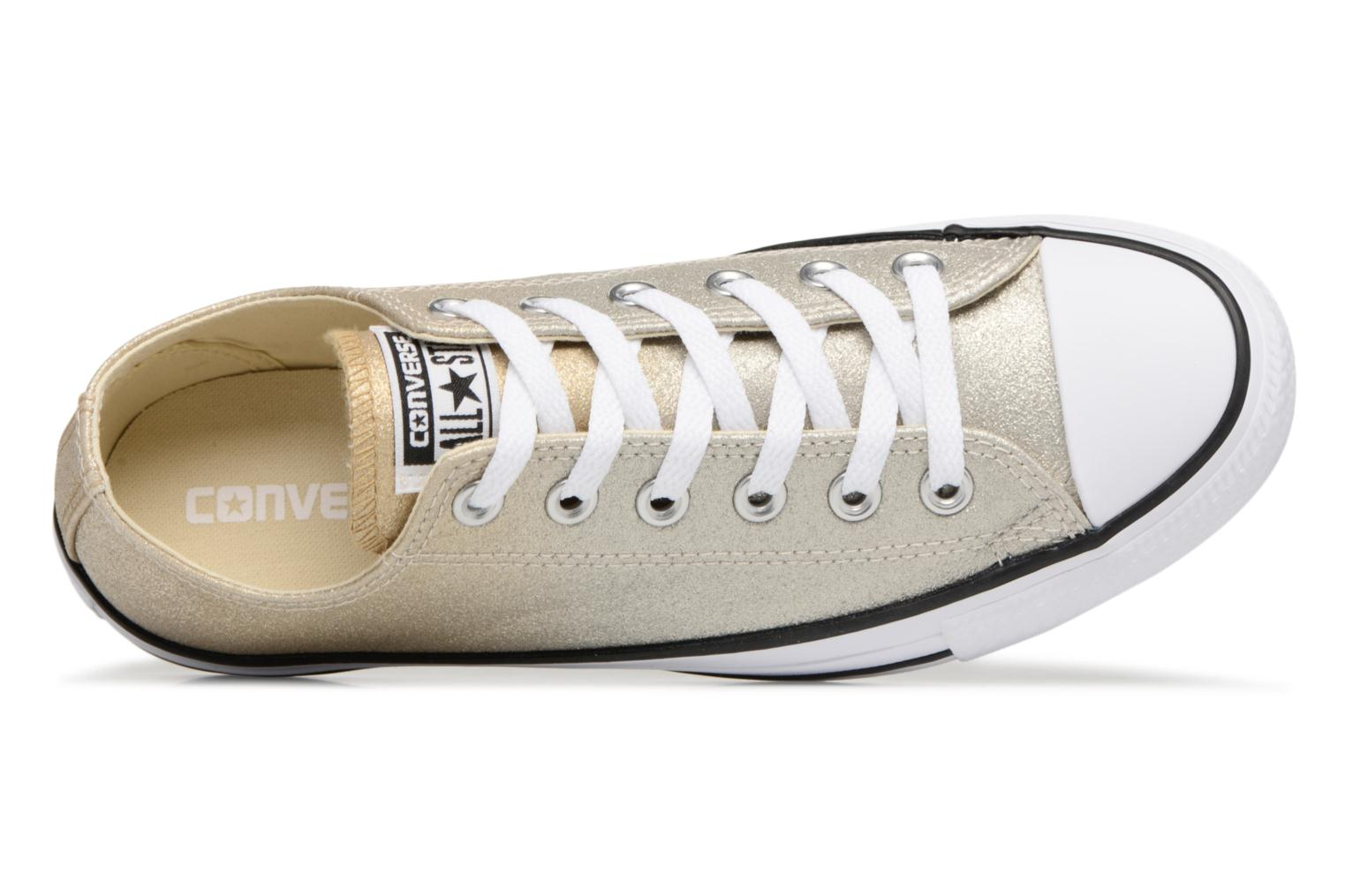 Baskets Converse Chuck Taylor All Star Ombre Metallic Ox Or et bronze vue gauche