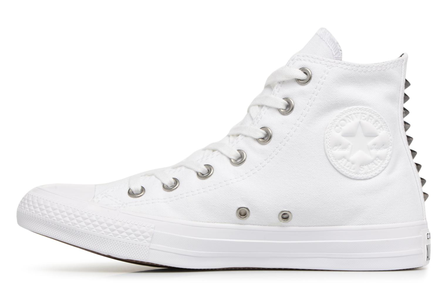 Baskets Converse Chuck Taylor All Star Canvas + Studs Hi Blanc vue face