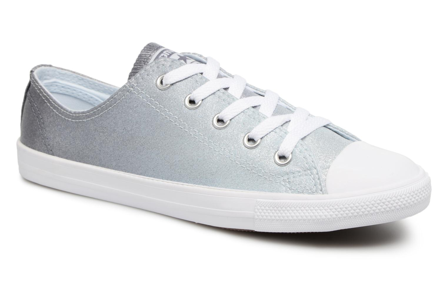 Trainers Converse Chuck Taylor All Star Dainty Ombre Metallic Ox Grey  detailed view/ Pair view