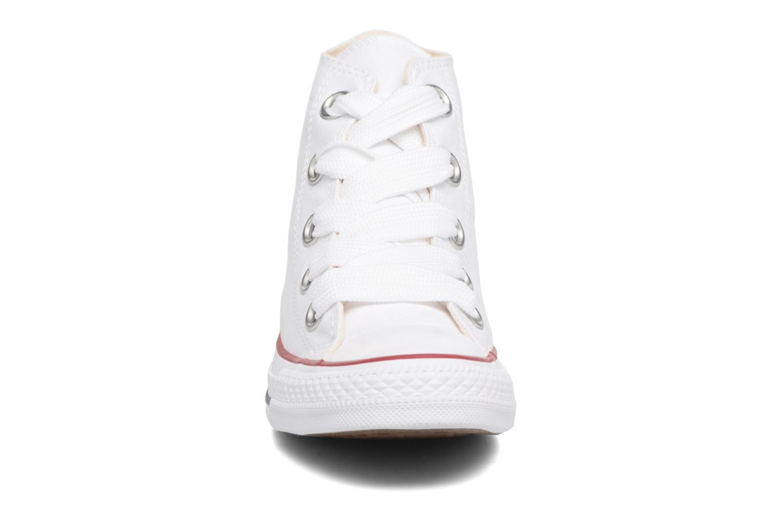 Baskets Converse Chuck Taylor All Star Big Eyelets Canvas Hi Blanc vue portées chaussures