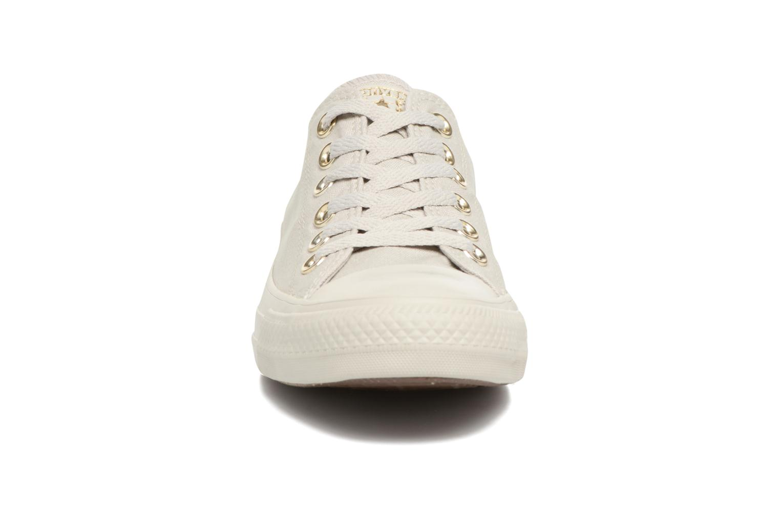 Chuck Taylor All Star Mono Glam Canvas Color Ox W Pale Grey/Pale Grey/Gold