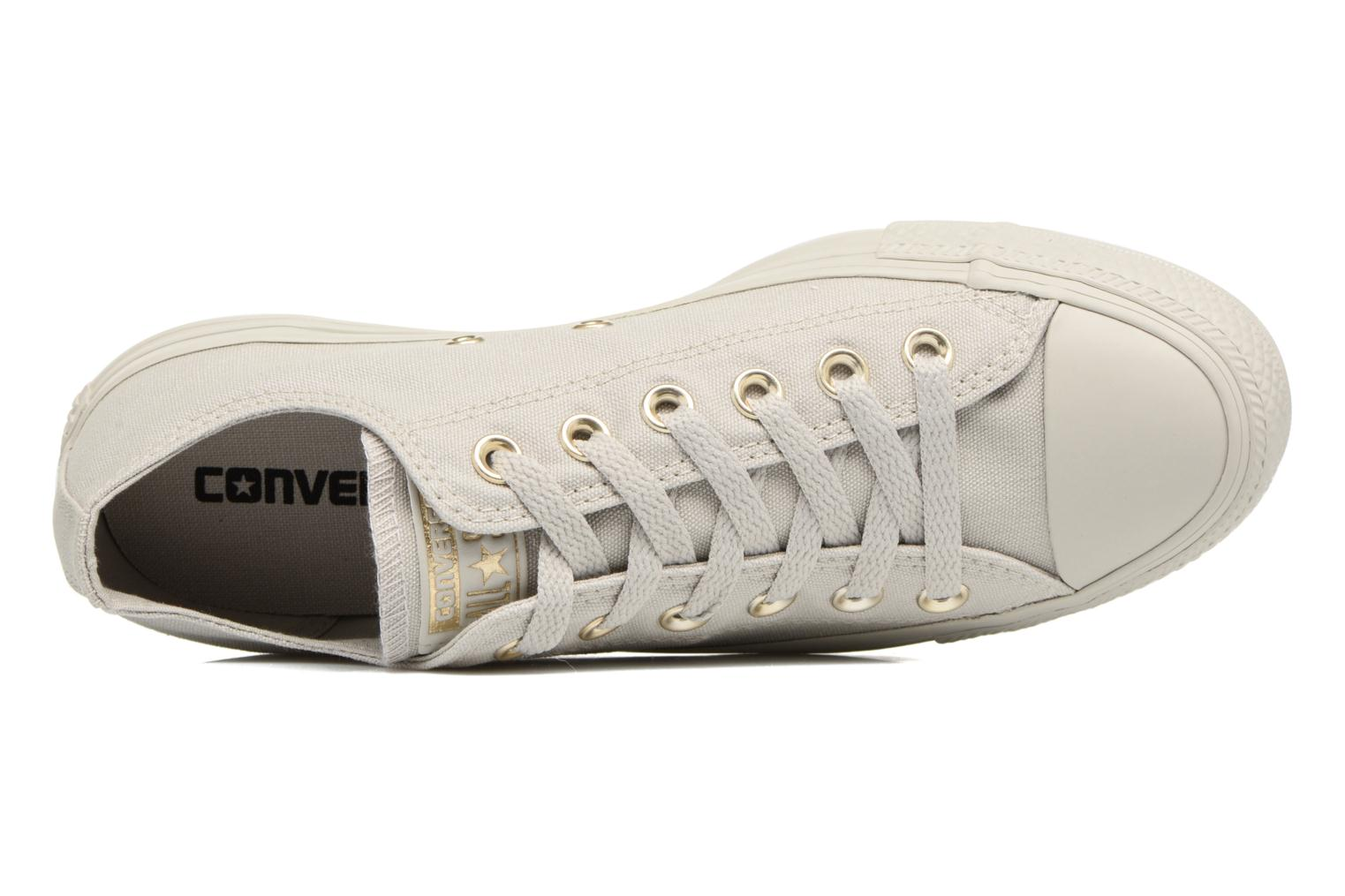 W Converse All Glam Grey Canvas Chuck Grey Pale Color Gold Taylor Star Mono Pale Ox BazBxr