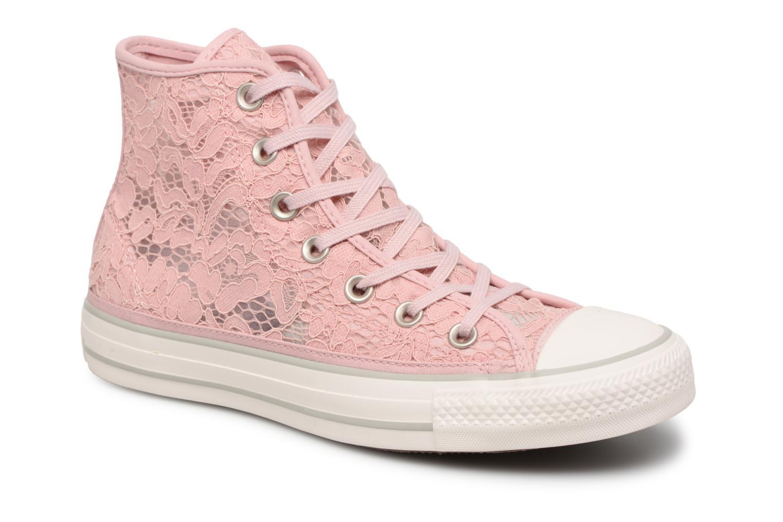 Los últimos zapatos de descuento para hombres y mujeres Converse Chuck Taylor All Star Flower Lace Hi (Rosa) - Deportivas en Más cómodo