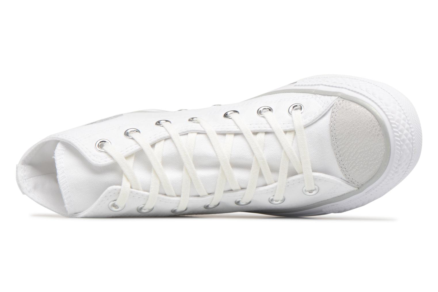 Chuck Taylor All Star Tipped Metallic Toecap Hi White/Silver/White